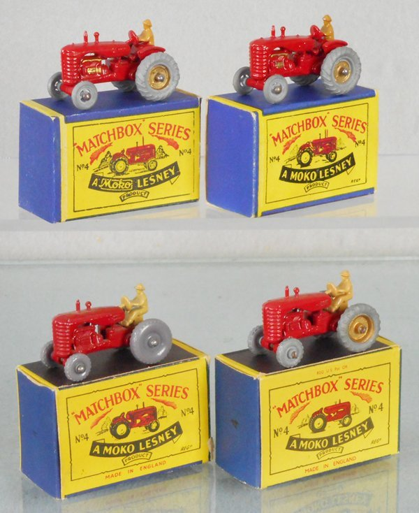 4 MATCHBOX MASSEY HARRIS TRACTORS