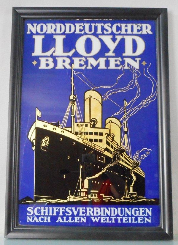 NORDDEUTSCHER LLOYD BREMEN SIGN