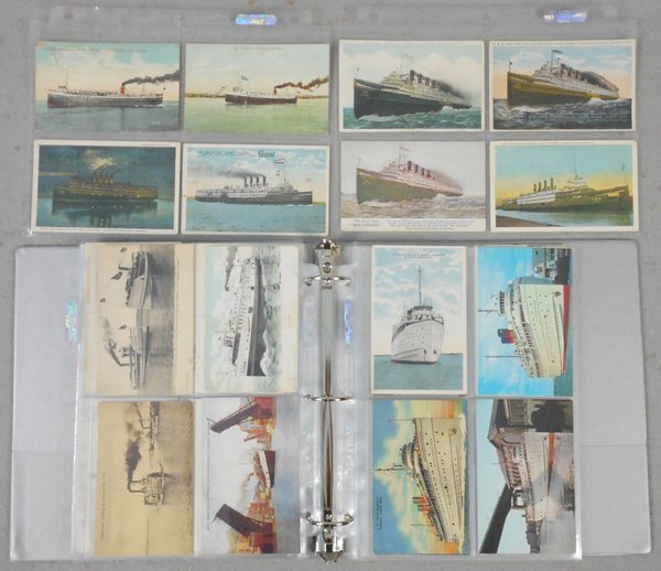 130 GREAT LAKES SHIP POSTCARDS