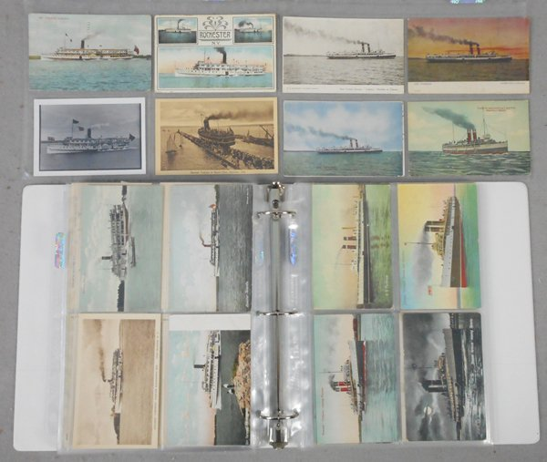 175 GREAT LAKES SHIP POSTCARDS