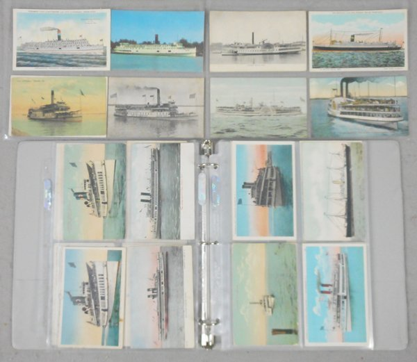 160 STEAMSHIP POSTCARDS
