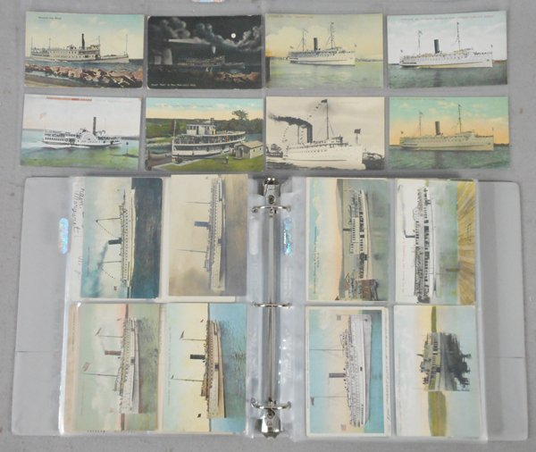 260 NEW ENGLAND SHIP POST CARDS