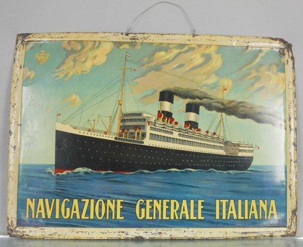 NAVIGAZIONE GENERALE ITALIANA SHIP SIGN