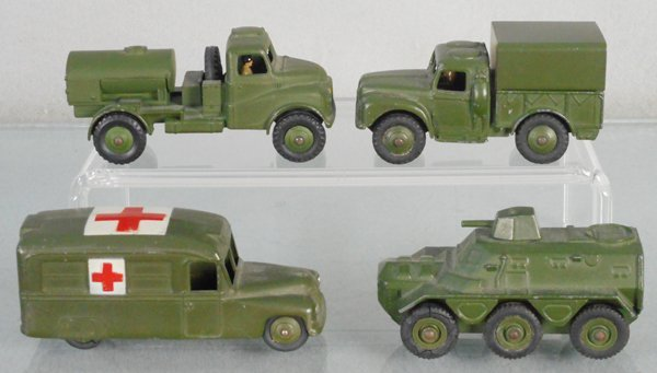 4 DINKY ARMY VEHICLES