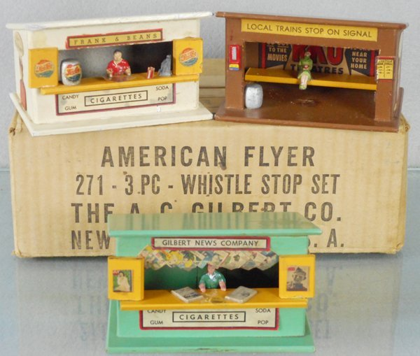AMERICAN FLYER 271 WHISTLE STOP SET