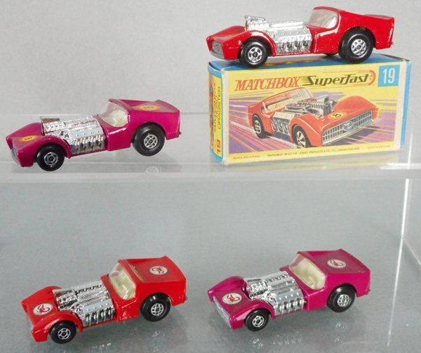 4 MATCHBOX SUPERFAST ROAD DRAGSTERS