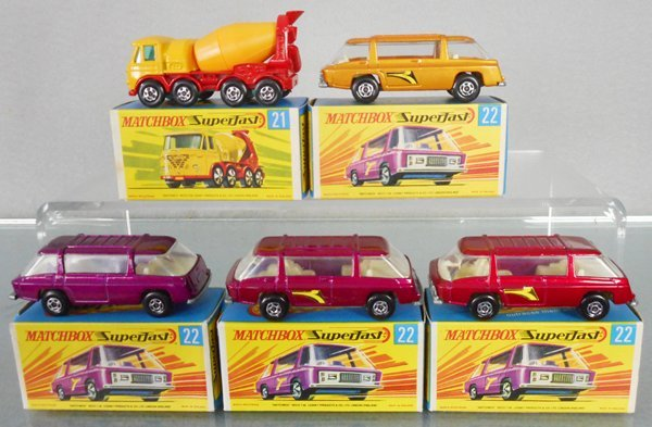 5 MATCHBOX SUPERFASTS