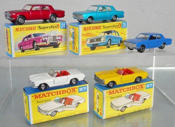 5 MATCHBOX SUPERFAST AUTOS