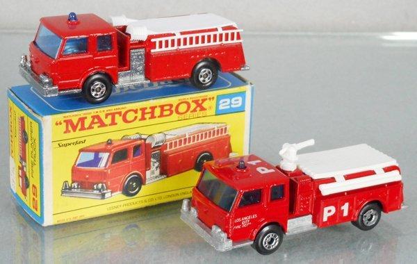 2 MATCHBOX SUPERFAST FIRE PUMPERS