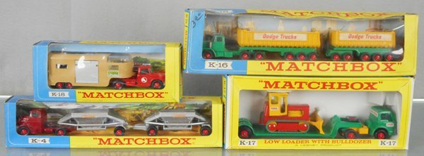 4 MATCHBOX KING SIZE VEHICLES