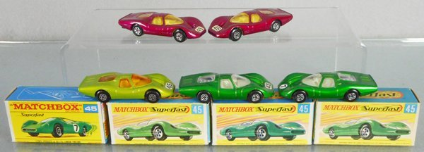 5 MATCHBOX SUPERFAST FORD GROUP 6 AUTOS