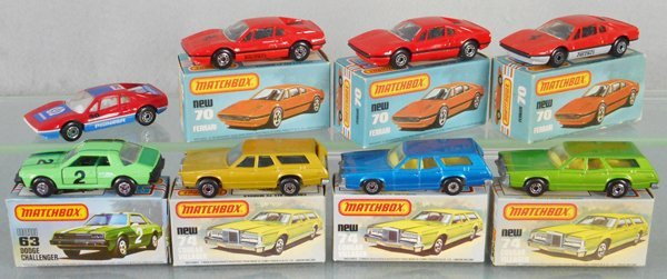 8 MATCHBOX SUPERFAST CARS