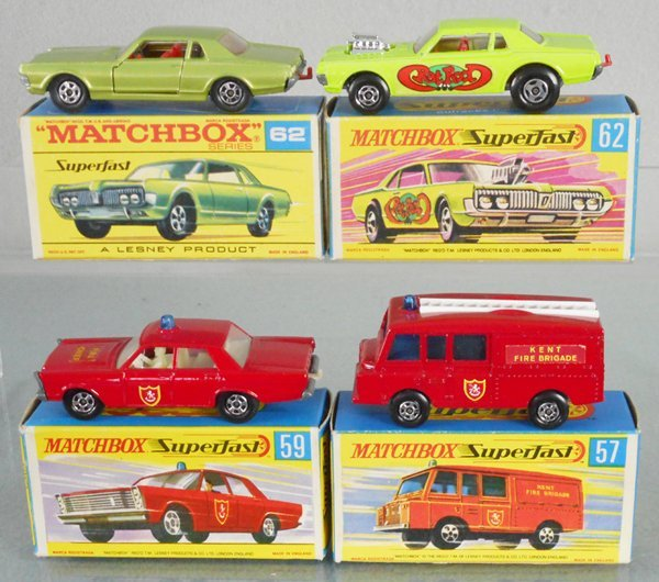 4 MATCHBOX SUPERFAST VEHICLES