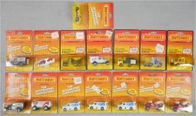 15 MATCHBOX CARDED VEHICLES