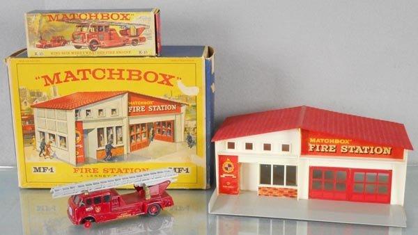 MATCHBOX FIRE STATION & ENGINE