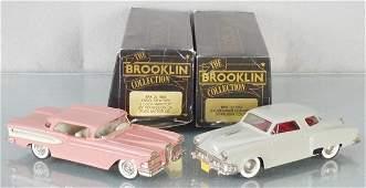 2 BROOKLIN MODEL CARS