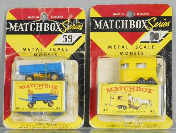 2 MATCHBOX CARDED VEHICLES