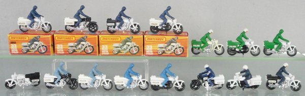 15 MATCHBOX SUPERFAST POLICE MOTORCYCLES