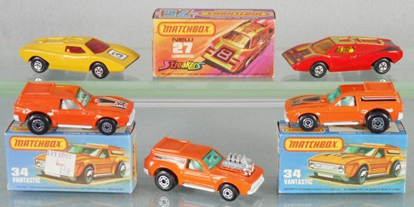 5 MATCHBOX SUPERFASTS