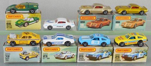 8 MATCHBOX SUPERFAST SPORTS CARS