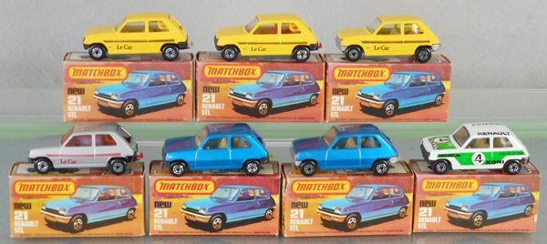 7 MATCHBOX SUPERFAST RENAULTS