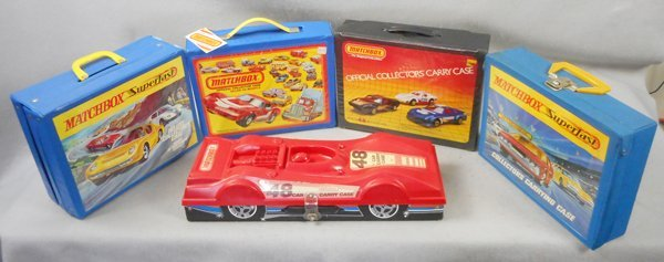5 MATCHBOX CAR CARRYING CASES