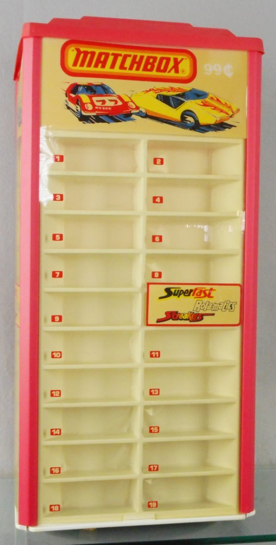 MATCHBOX 1970s SUPERFAST COUNTER DISPLAY