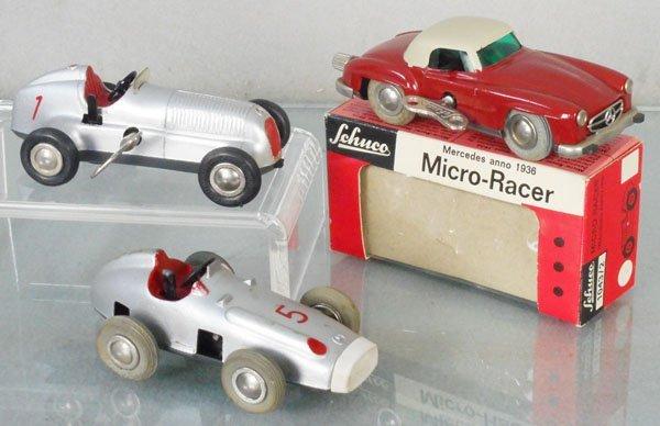 3 SCHUCO MERCEDES MICRO RACERS