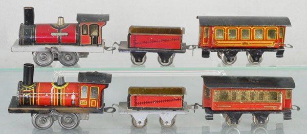 2 MINIATURE ISSAMEYER TRAIN SETS