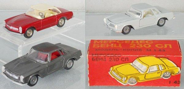 3 MERCEDES 230SL AUTOS
