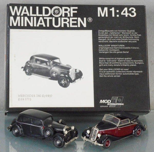 2 WALLDORF MINIATUREN MERCEDES BENZ AUTOS