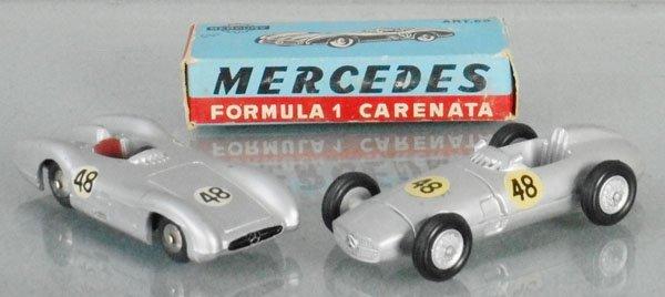 2 MERCURY MERCEDES FORMULA 1 RACERS