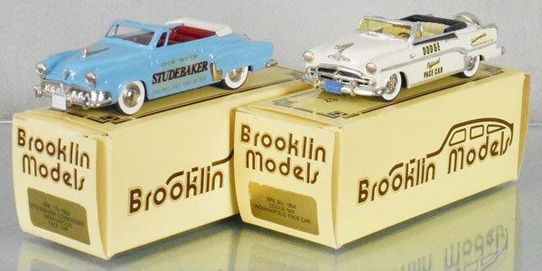 2 BROOKLIN MODELS PACE CARS