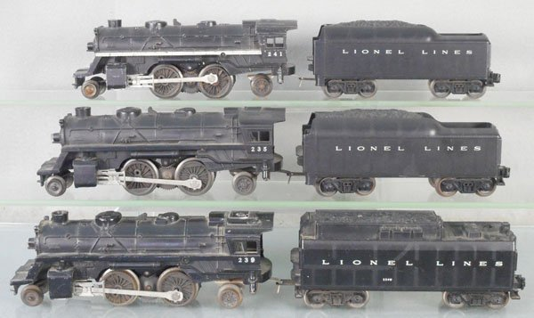3 LIONEL LOCO & TENDER SETS