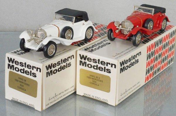 2 WESTERN MODELS 1929 MERCEDES CORSICAS