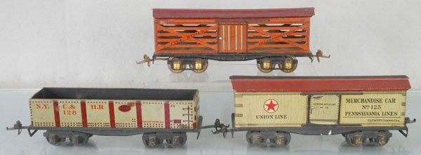3 IVES FREIGHT CARS