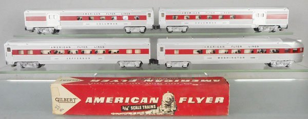 4 AMERICAN FLYER PASSENGER CARS