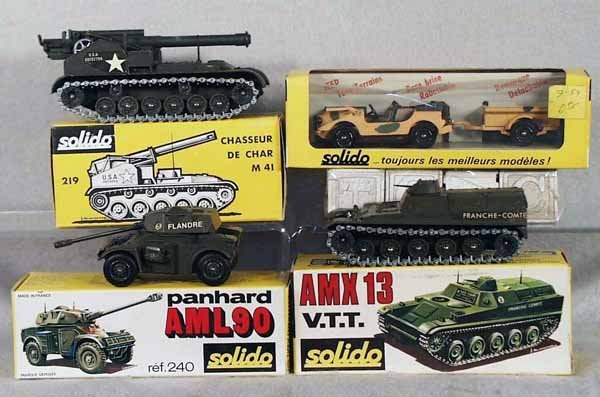 019A: 4 SOLIDO MILITARY VEHICLES