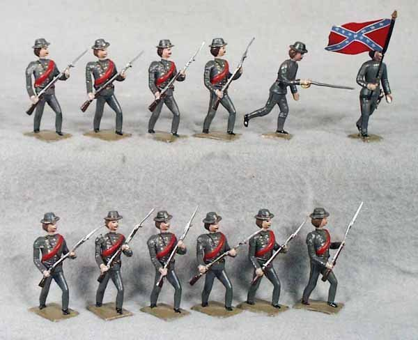 024A: MIGNOT CONFEDERATE ARMY ASSAULTING