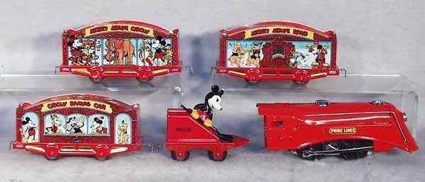 414A: PRIDE LINES MICKEY MOUSE TRAIN SET