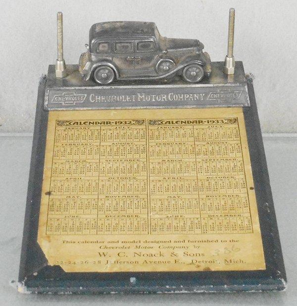 CHEVROLET 1932 DESK CALENDAR