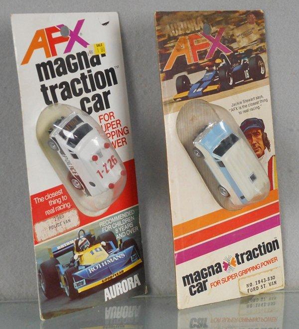 2 AURORA AFX MAGNATRACTION SLOT CARS