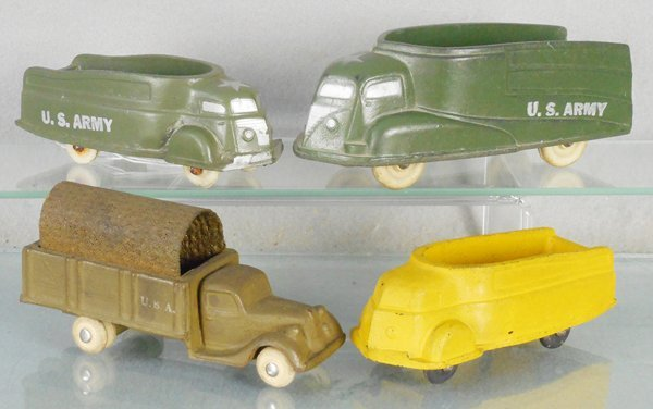 4 RUBBER TRUCKS