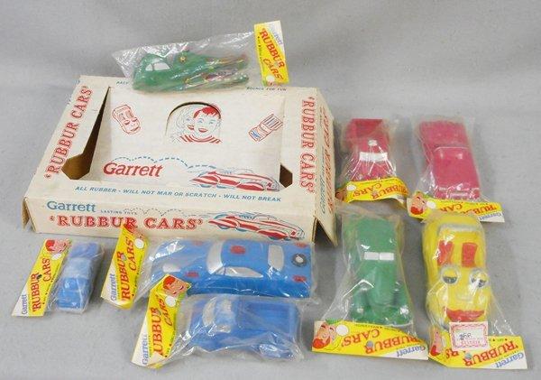 8 GARRETT RUBBER CARS