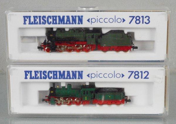 2 FLEISCHMANN PICCOLO LOCO & TENDER SETS