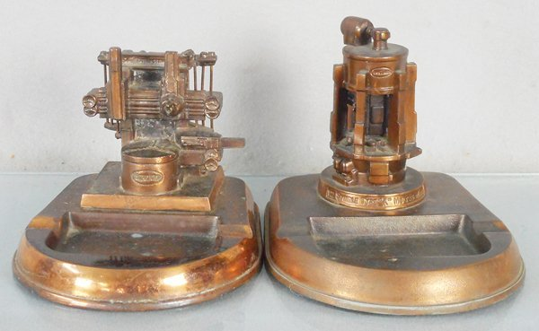2 BULLARD MACHINE TOOL ASHTRAYS