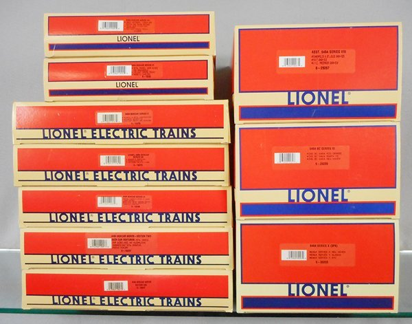 10 LIONEL FREIGHT CAR 3-PACKS
