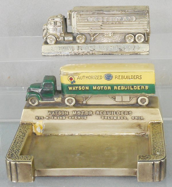 2 TRUCK ADVERTISING DESK PIECES
