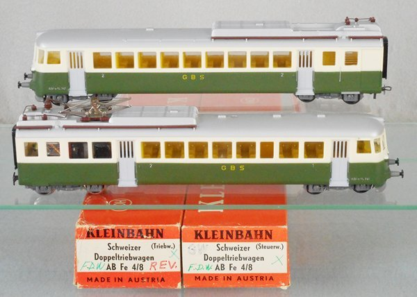 KLEINBAHN 2-UNIT RAILCAR SET