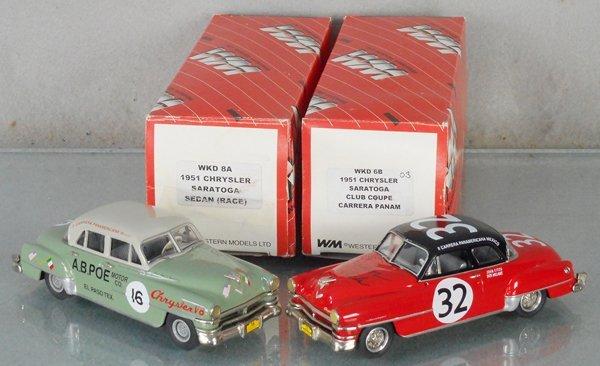 2 WESTERN MODELS 1951 CHRYSLER SARATOGAS